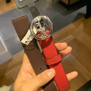 Coach women belt size S/M/L red